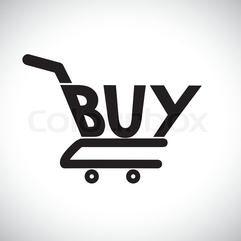 Buy Online: Concept Illustration Of Shopping Cart With The Word Buy
