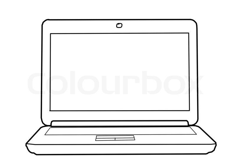 zeichnen laptop  stockfoto  colourbox
