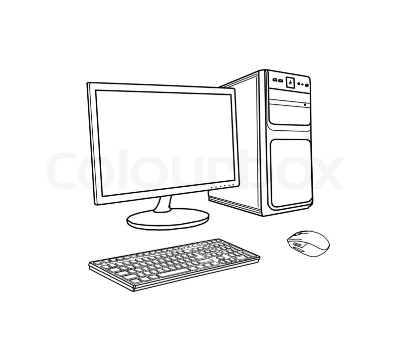 Drawing computer | Stock Photo | Colourbox