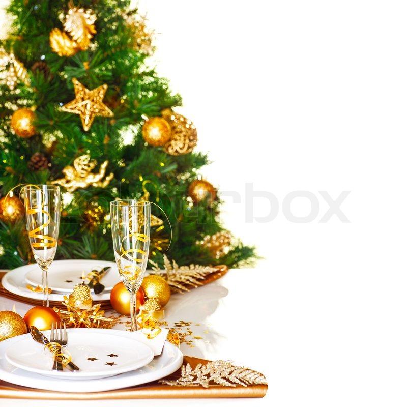 Foto von weihnachten gedeckten tisch grenze sch n for Foto hintergrund weihnachten