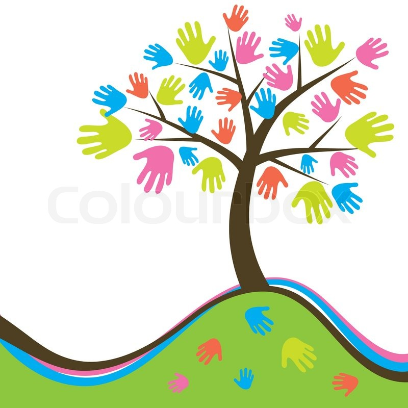 Decorative Abstract Hand Tree Vector Stock Vector Colourbox