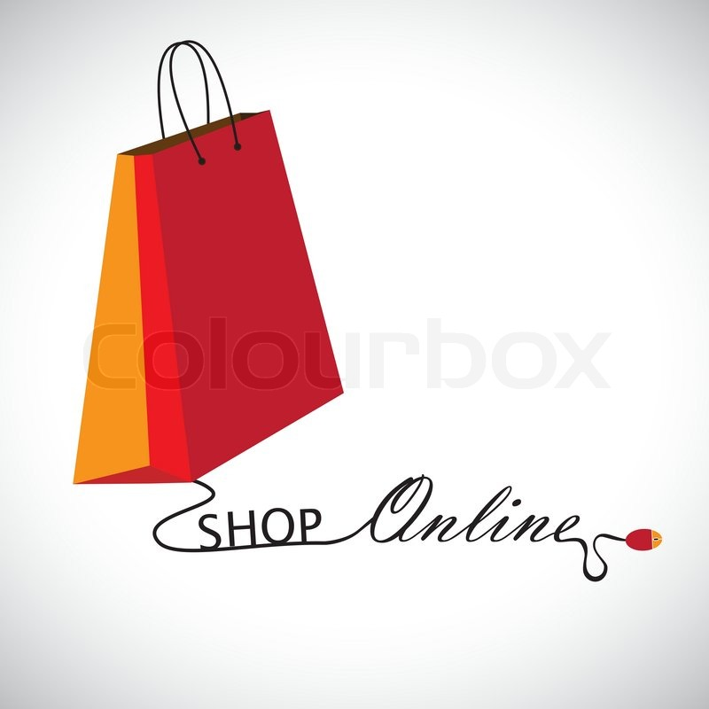 Illustration Of Shopping Online Using A Technology The Graphic