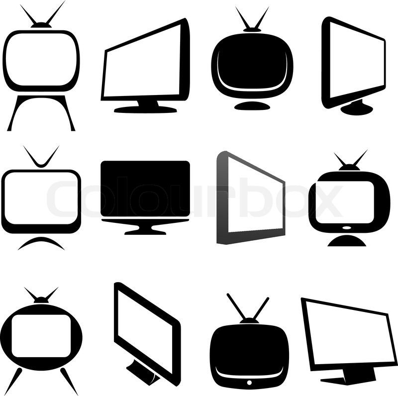 tv icons set vector illustration