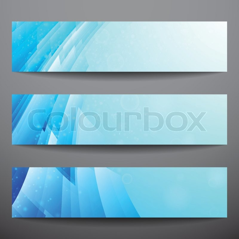 Business Banner Background Web Music Card Party Bright Blue Technology