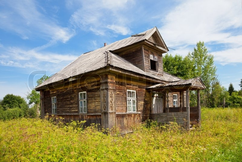 Old wooden house in russian village novgorod region for Wood house images