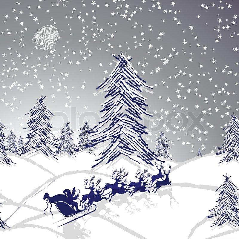 santa sky snow wallpaper - photo #17