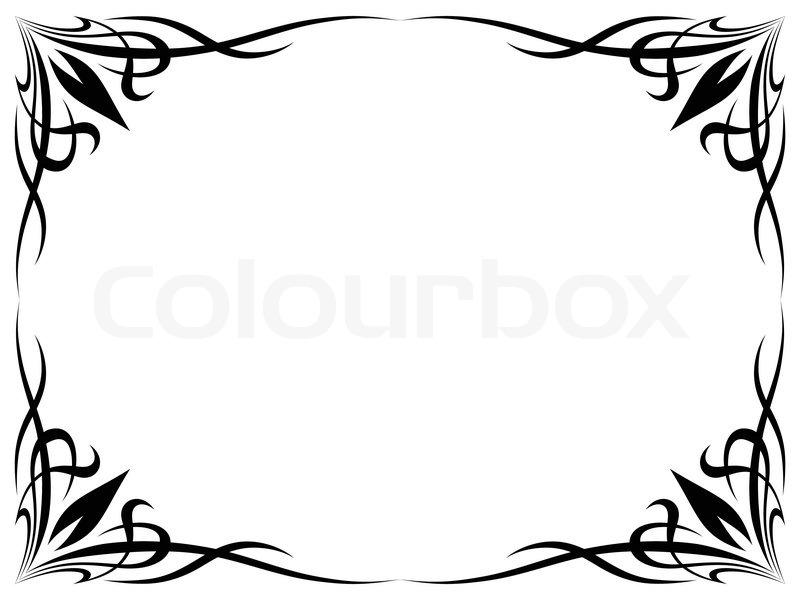 Einfachen schwarzen Tattoo ornamentalen dekorativen Rahmen ...
