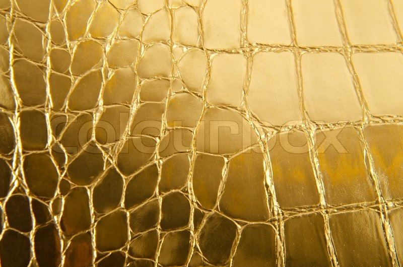 Shiny Gold Leather As A Background