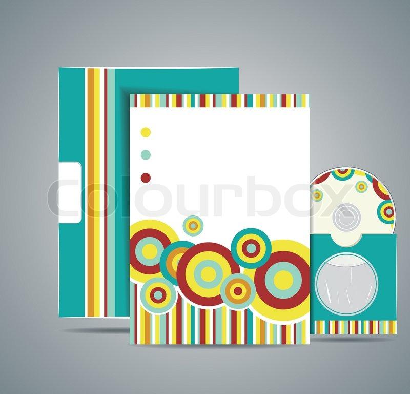 Layout Business Set Design Leaflet Folder Card Icon