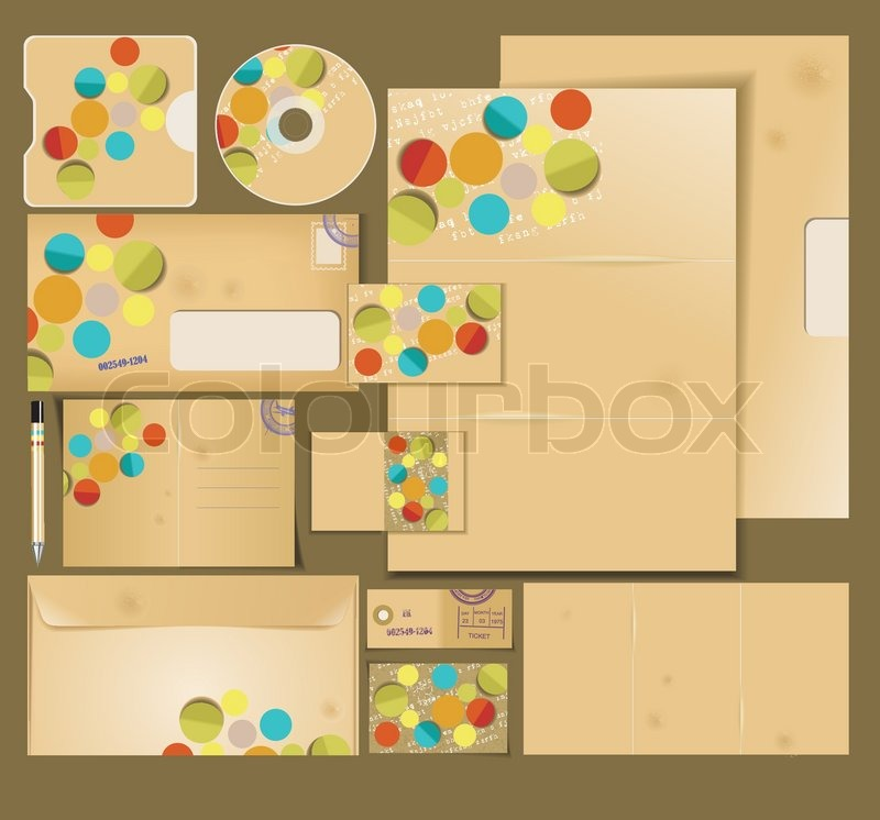 Layout, business, set, design, leaflet, folder, card, icon, abstract ...