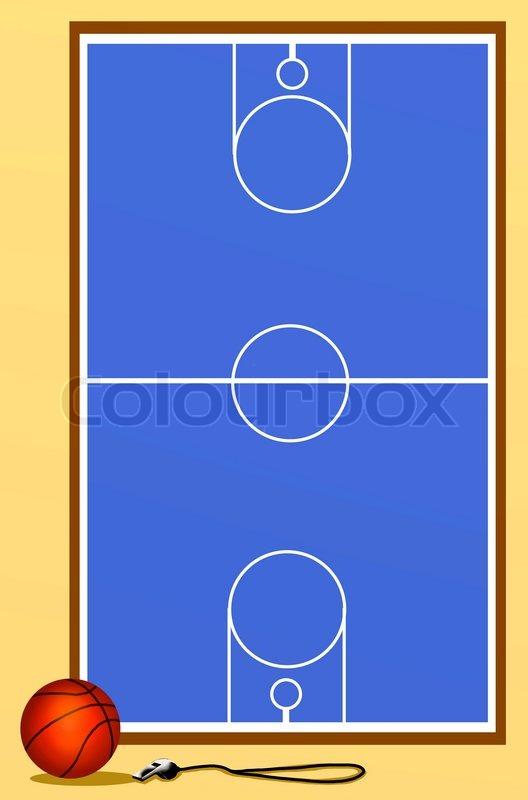 Background Of Basketball Court Stock Photo Colourbox