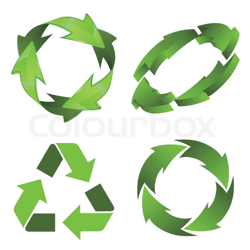 Recycle Symbol Circle Recycling Symbol Vector