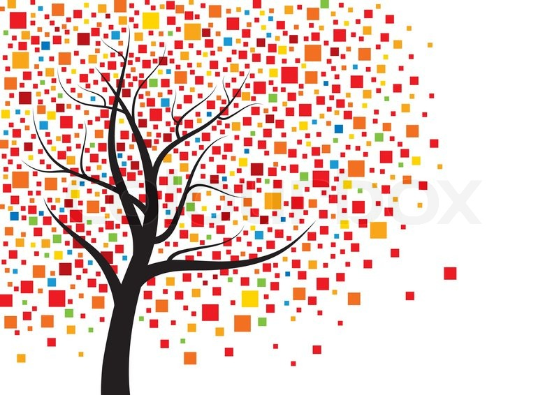 abstract tree design stock vector colourbox