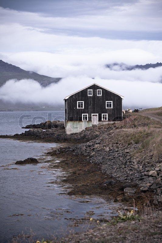 Astounding Black Wooden House In East Iceland Stock Image Colourbox Download Free Architecture Designs Xoliawazosbritishbridgeorg