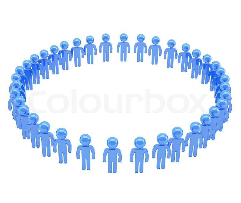 Round frame made of group of symbolic people | Stock Photo | Colourbox