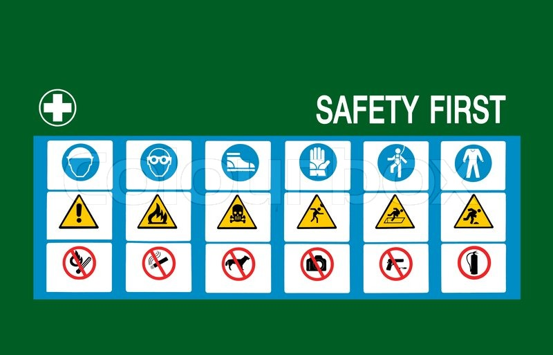 Safety First Symbol Stock Photo Colourbox