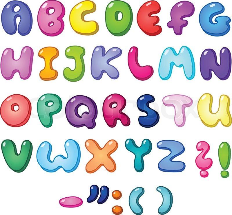 3d Bubble Shaped Alphabet Set