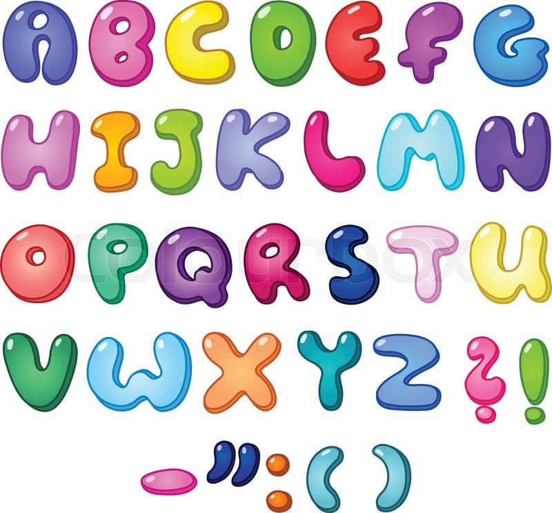 3d bubble shaped alphabet set stock vector colourbox. Black Bedroom Furniture Sets. Home Design Ideas