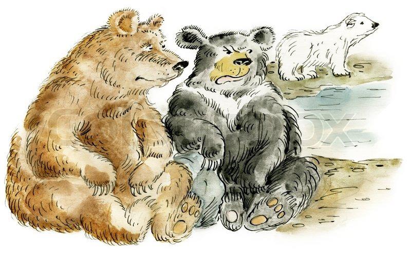 Illustration of three ...