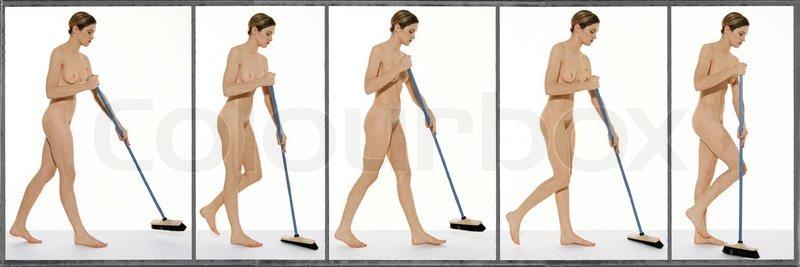 nøgne kvinder i brusebad nøgen rengøring