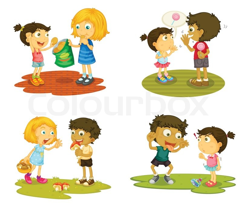 Kids with various activities | Stock Vector | Colourbox