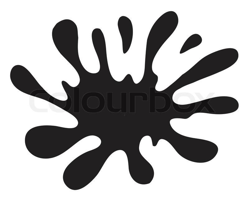 Black Paint Splatter Clipart