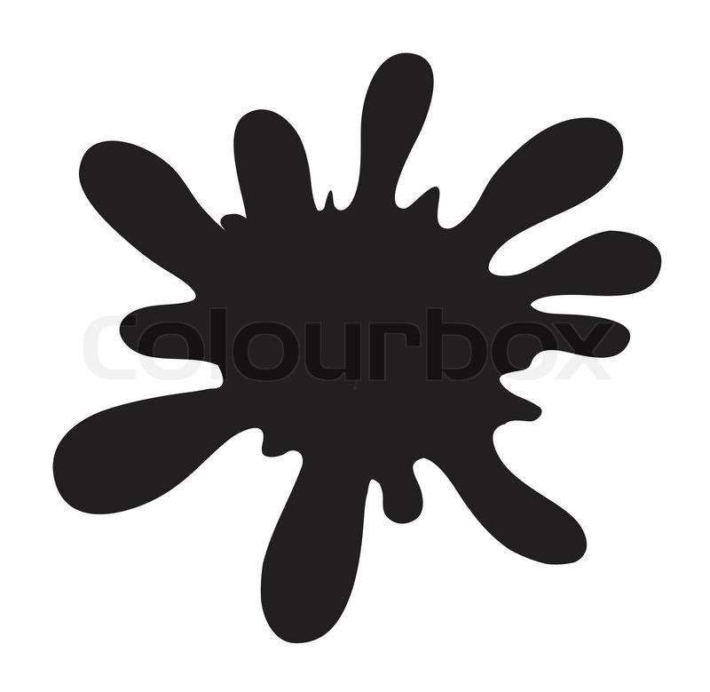 Black Color Splash Stock Vector Colourbox