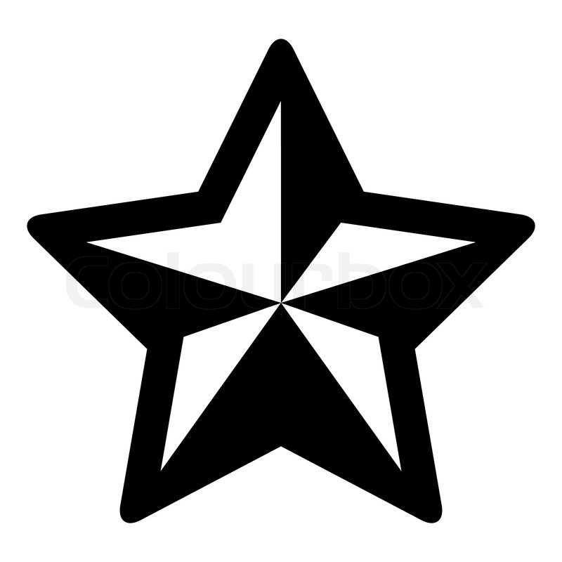 Simple black and white christmas star | Stock Vector | Colourbox