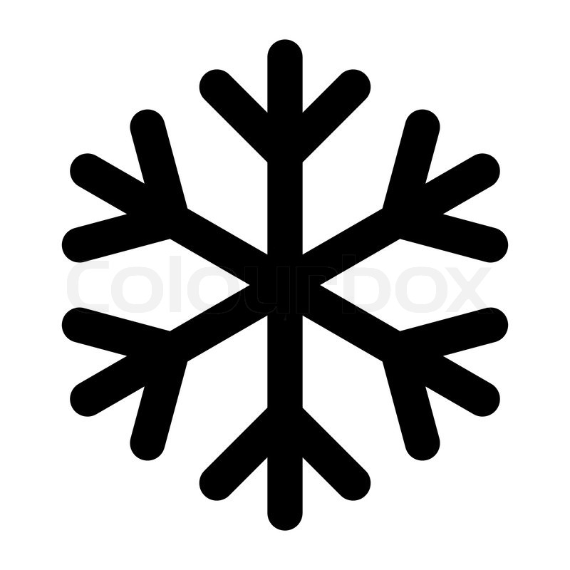 icon christmas snowflake black stock vector colourbox rh colourbox com vector snowflakes free download vector snowflakes free