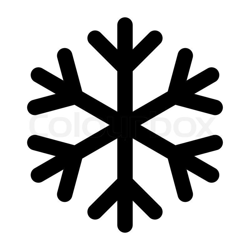Ikon - snefnug - sort | stock vektor | Colourbox