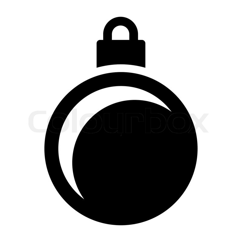 Einfacher schwarz weiß Weihnachtskugel | Vektorgrafik ...