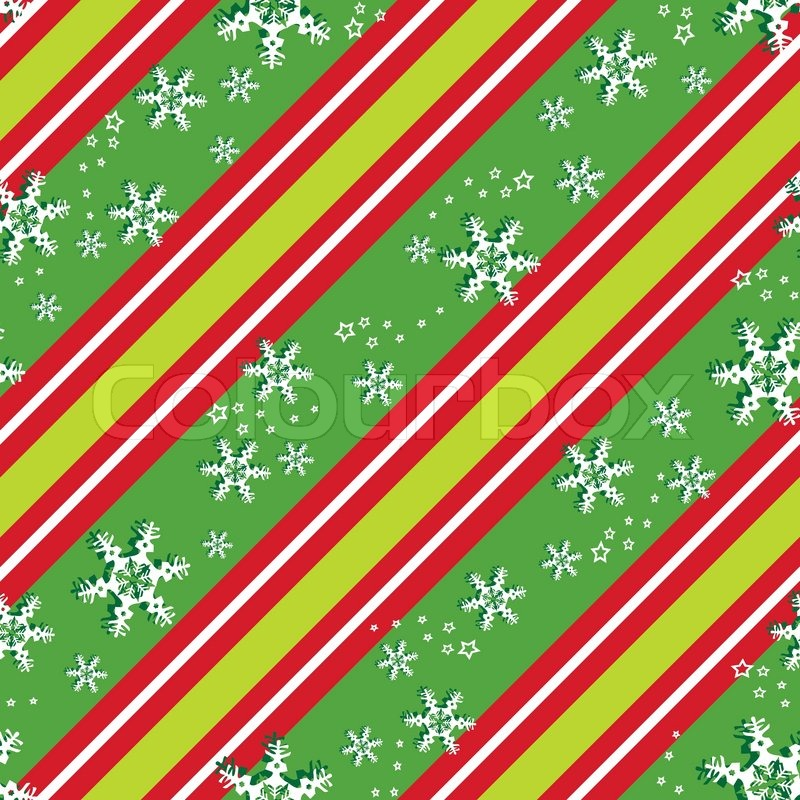 Seamless Patterns In Christmas Colors Eps 10 Stock