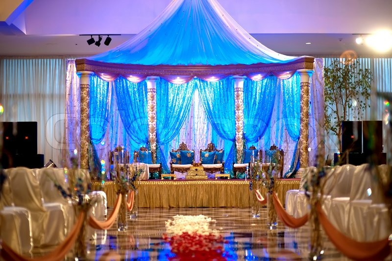 Indian wedding mandap stock photo colourbox for Decoration ka photo