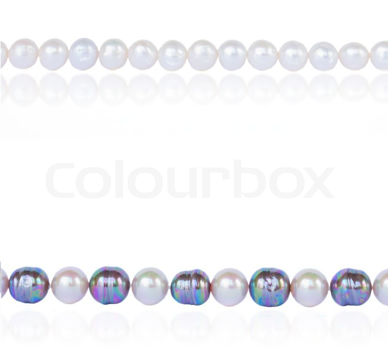 Pearl border | Stock Photo | Colourbox