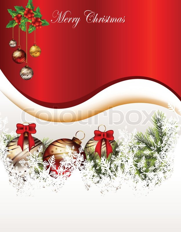 beauty christmas card background stock vector colourbox