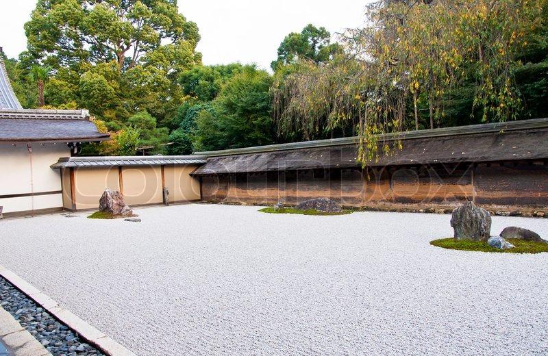 Zen Garden Of The Ryoan Ji Temple In Stock Photo Colourbox