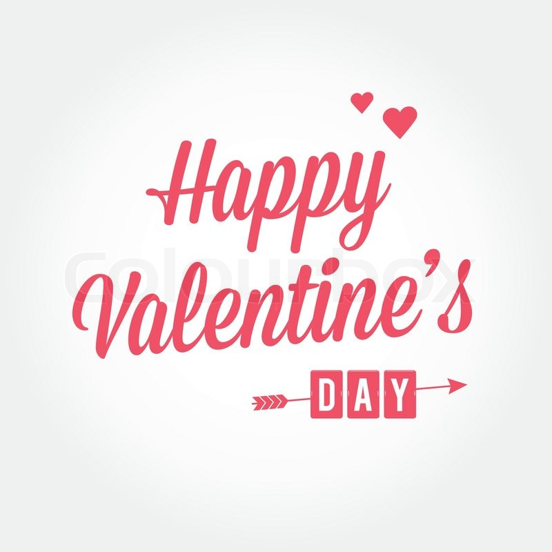 Happy Valentine's day card, type text, editable vector