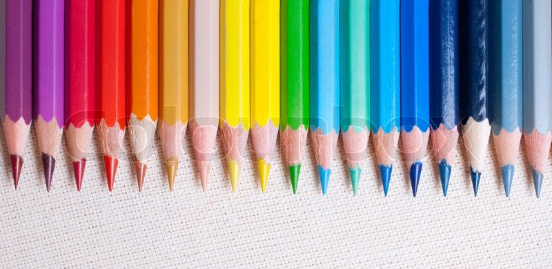 Colorful pencil crayons, stock photo