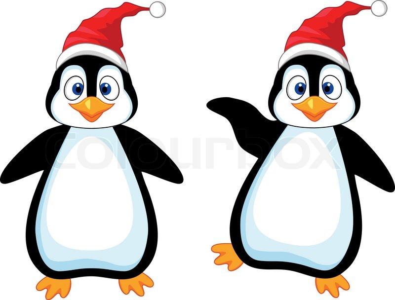 Vector illustration of Funny penguin cartoon | Stock ...
