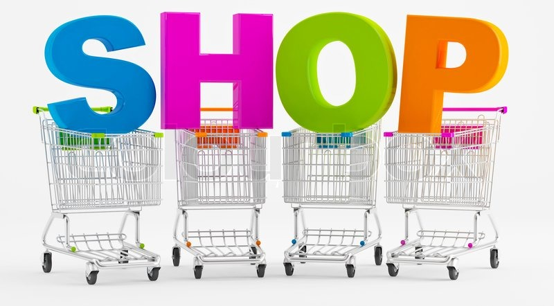 shopping in a store stock photo colourbox