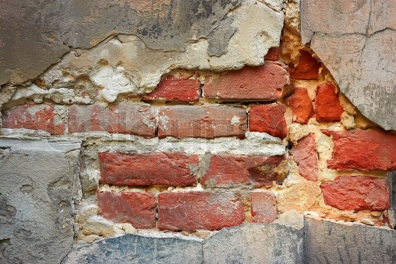 Old Brick Wall With Destroyed Stucco Stock Photo Colourbox