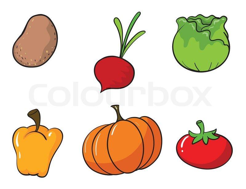 forskellige grøntsager