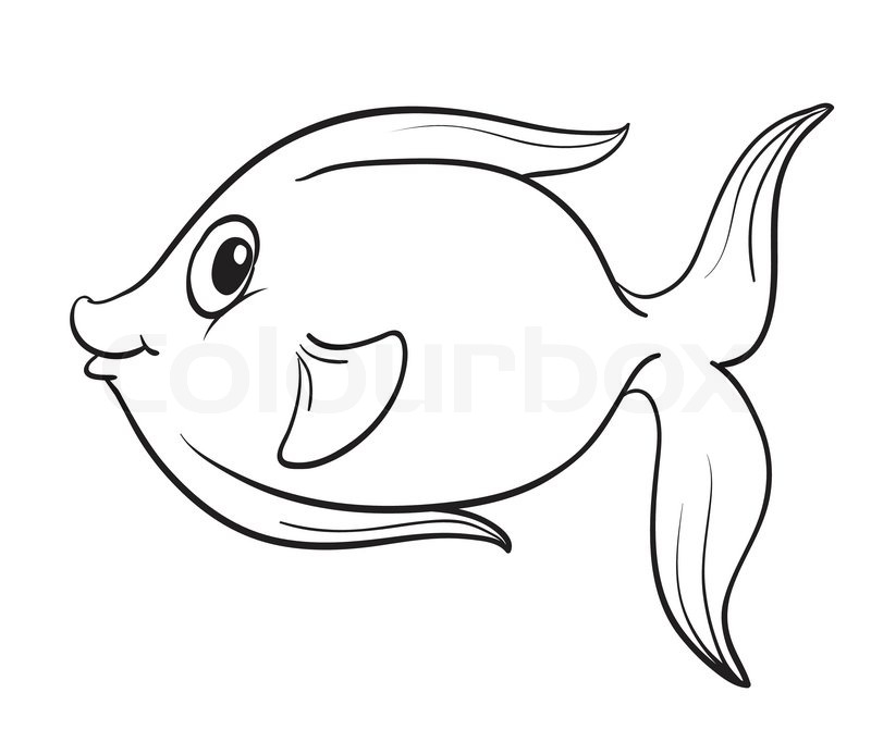 fish sketches for coloring pages - photo#22