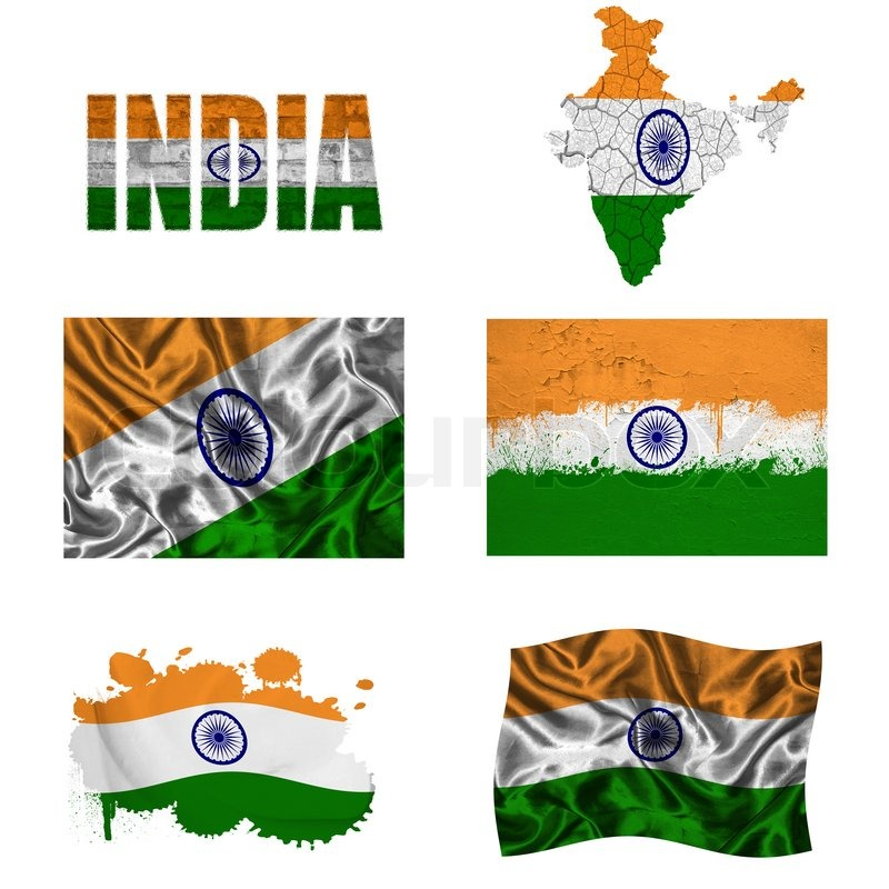 Indian Flag Collage Stock Photo Colourbox