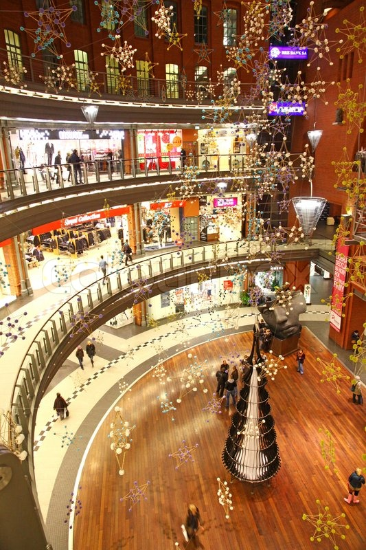 Christmas Decoration In Shopping Mall In Poznan Poland