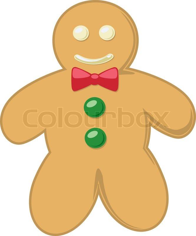 Gingerbread Man Running Template Of smiling gingerbread man