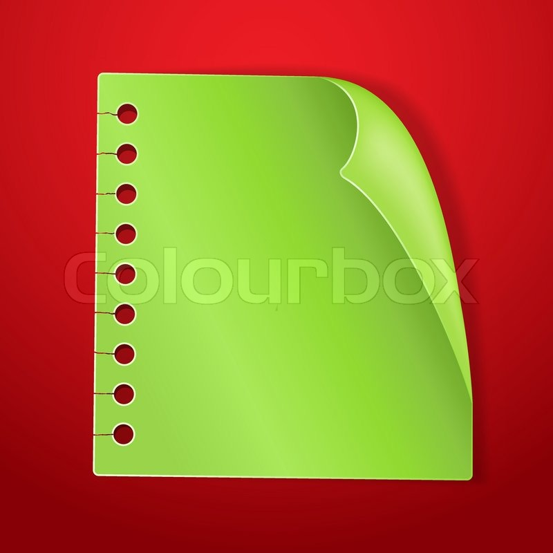 green blank note page on red new year background stock vector colourbox