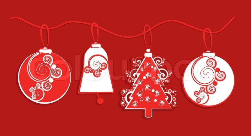 garland von papier weihnachtsschmuck stockfoto colourbox. Black Bedroom Furniture Sets. Home Design Ideas