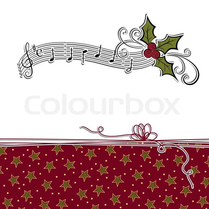 Cute christmas postcard template   Stock Vector   Colourbox