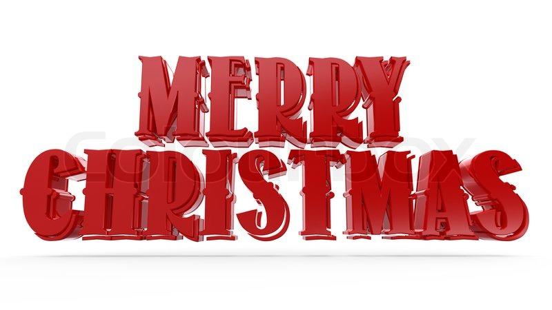 3D merry christmas text... | Stock Photo | Colourbox